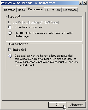 QoS for WLANs according to IEEE 802 11e (WMMWMM/WMEWME)
