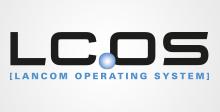 LCOS Logo - Das kostenlose Betriebssystem LANCOM Operating System) ist die hauseigene Closed-Source Firmware für das gesamte Kernportfolio der LANCOM Systems.