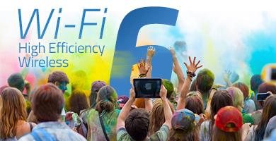 Große Menge an Wi-Fi-Nutzern auf Holi-Festival