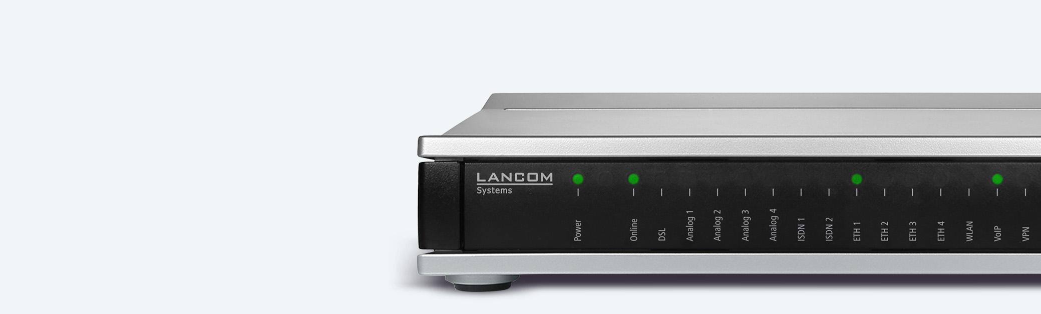 Kollagenbanner LANCOM VoIP-Router und SD-WAN