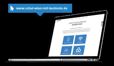 Visual Special Interest Webseite www.schul-wlan-mit-bestnote.de