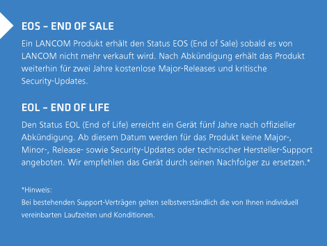 End of Sale & End of Life