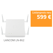 LANCOM LN-862 - 11ac Wave 2 Access Point mit 2 x 2 Multi-User MIMO